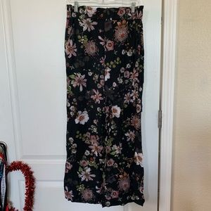 H&M floral wide pants